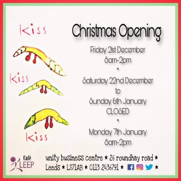 Christmas opening Hours Cafe